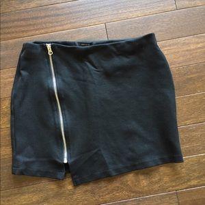 Black Skirt with zipper super cute and fun!
